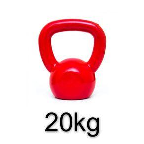 Kettlebell-Emborrachado-Vermelho-20kg