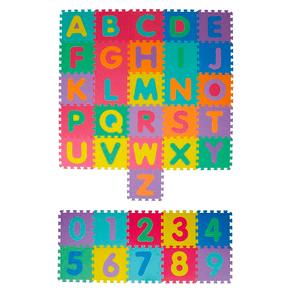 Tapete Pedagógico Alfanumérico - 36pçs - 7cm - 17698